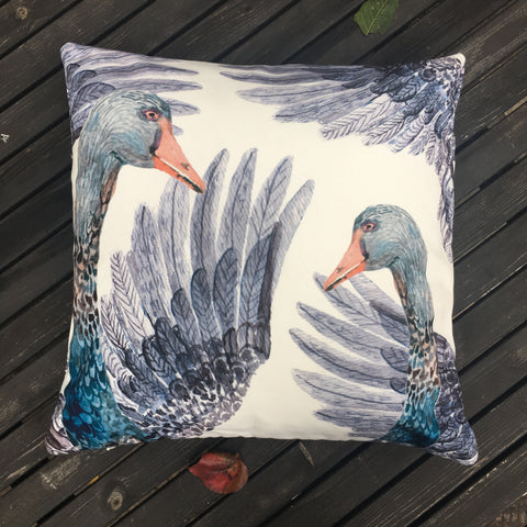 BLACK SWANS PILLOW