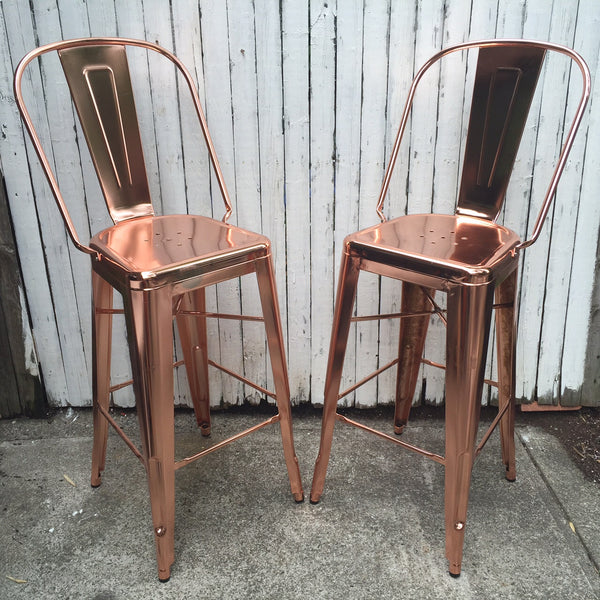 EMERSON BAR STOOL SET    ROSE
