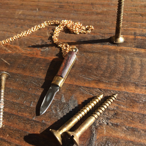 NECKLACE - POCKET KNIFE