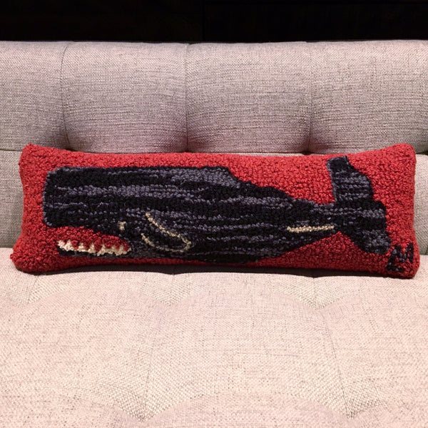 RED WHALE PILLOW