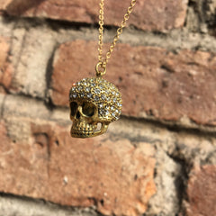 WHITE CRYSTAL SKULL NECKLACE