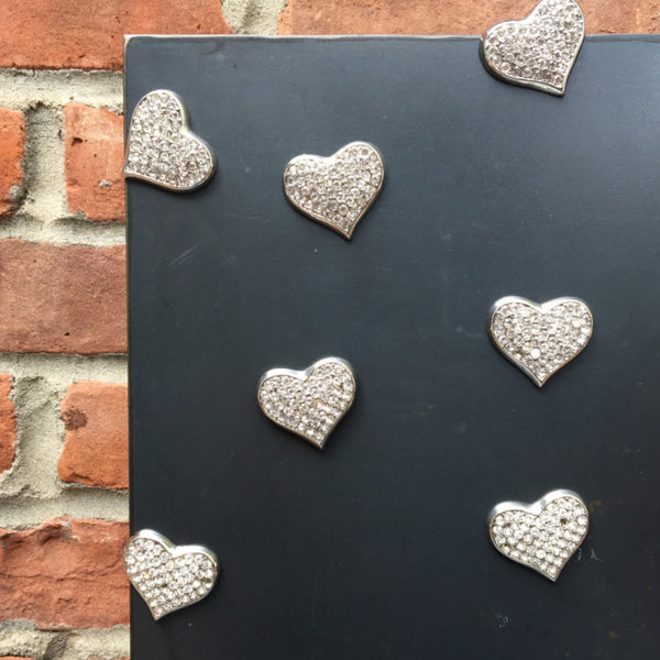 BEDAZZLED HEART MAGNET