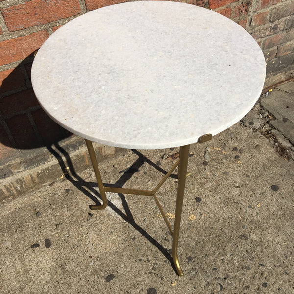 MARBLE CIRCLE TOP TABLE