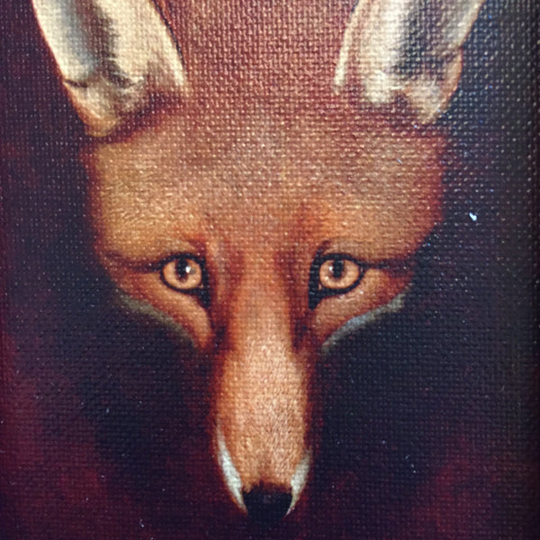 LEERING FOX PAINTING
