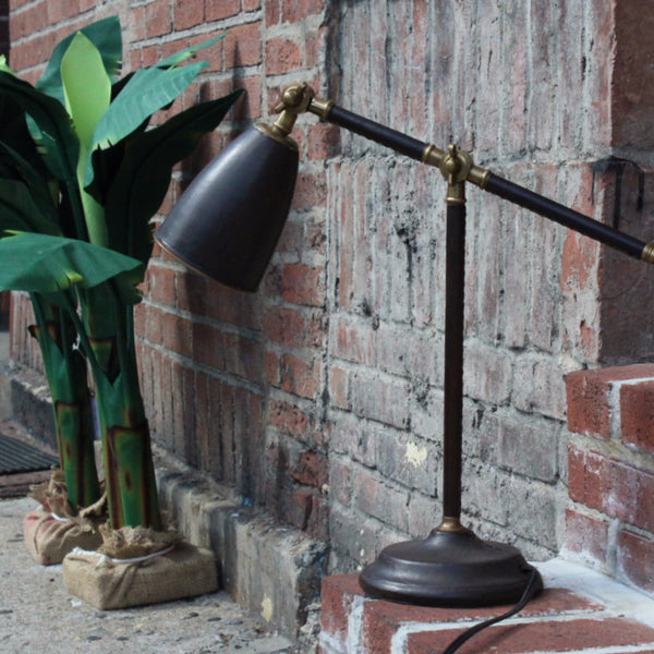 LEATHER TASK LAMP