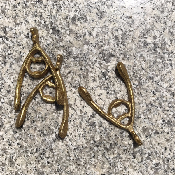 GOLD WISHBONE BOTTLE OPENER