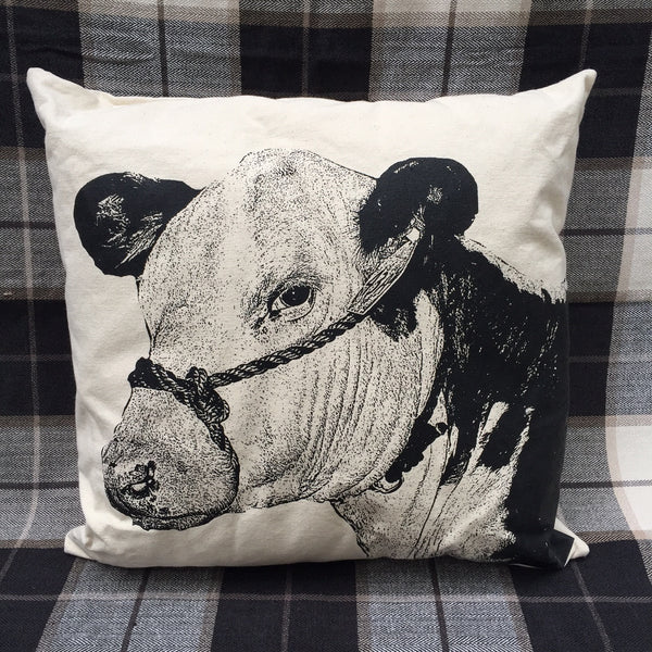 COW FACE PILLOW