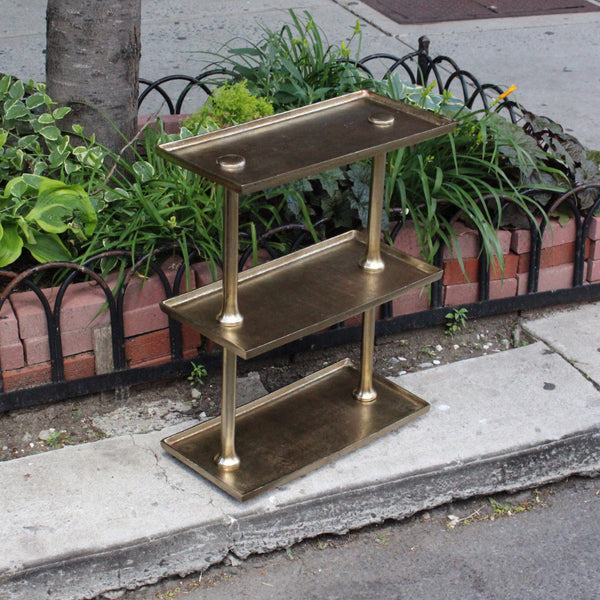 BRASS 3-LEVEL SHELF