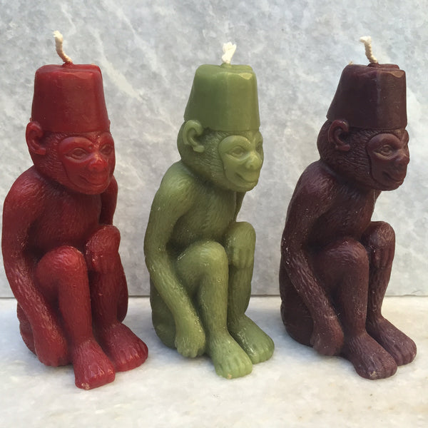 MONKEY CANDLE GREEN