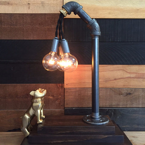BRASS MACK TOUCH LAMP