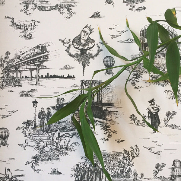 BROOKLYN TOILE WALLPAPER   BLACK