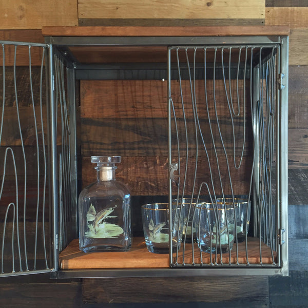 WOODGRAIN BAR CABINET
