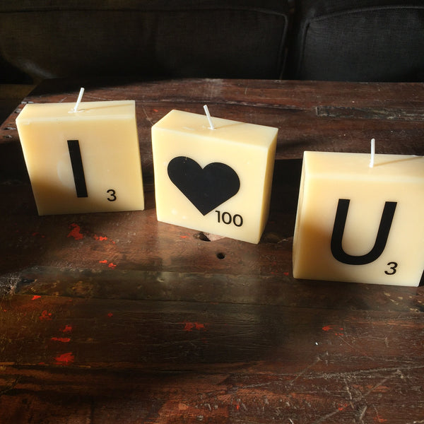 I HEART YOU CANDLE SET