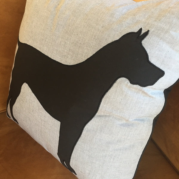 CHAMBRAY DOG PILLOW