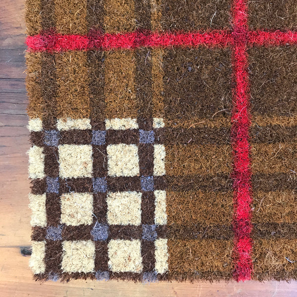 FALL PLAID DOORMAT