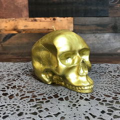 GOLD SKULL CANDLE