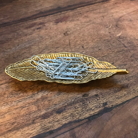 ANTIQUE FEATHER MINI DISH