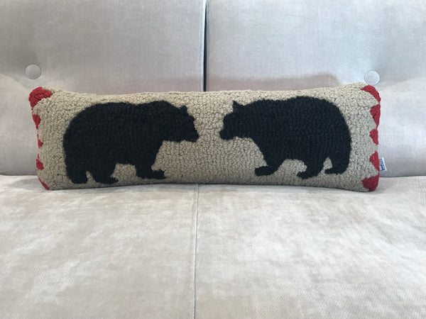 TWO BEARS PILLOW
