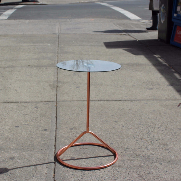 COPPER DISC SIDE TABLE