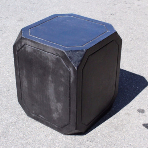 Black Cement Side Table