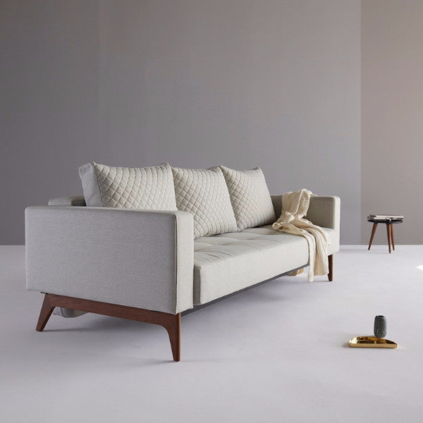 CASSIUS QUILT SOFA with WOOD BASE