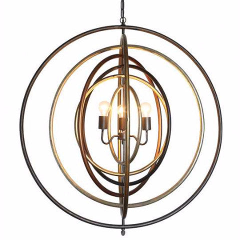 METAL RINGS CHANDELIER