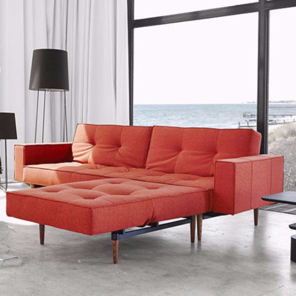 SPLITBACK SLEEPER SOFA WITH ARMS