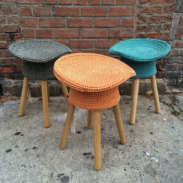 COILED STOOL   ORANGE