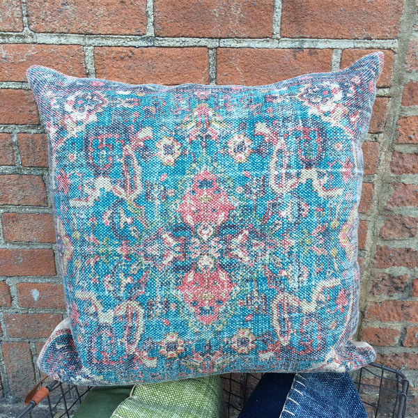 PATTERNED KILIM PILLOW    BLUE