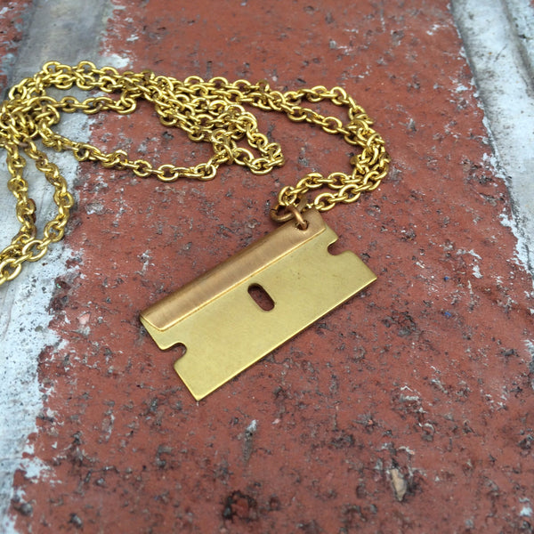 NECKLACE - RAZOR BLADE PENDANT