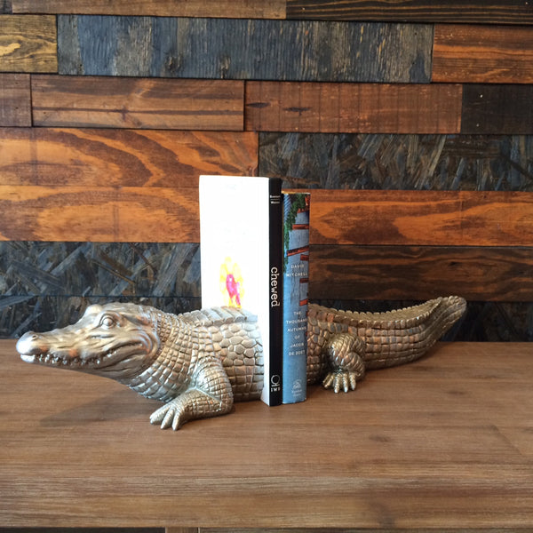 CROCODILE BOOKENDS
