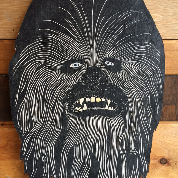 LASER CUT WOOD CHEWBACCA HEAD