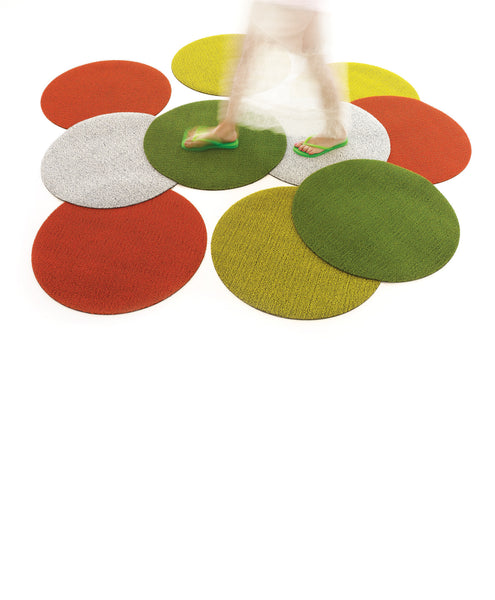 "SHAG FLOORMAT - SOLID DOT - 24"" ROUND - GREEN"