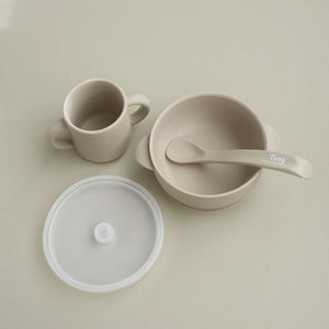 Silicone Bowl+Spoon and Cup Set - Sandstone