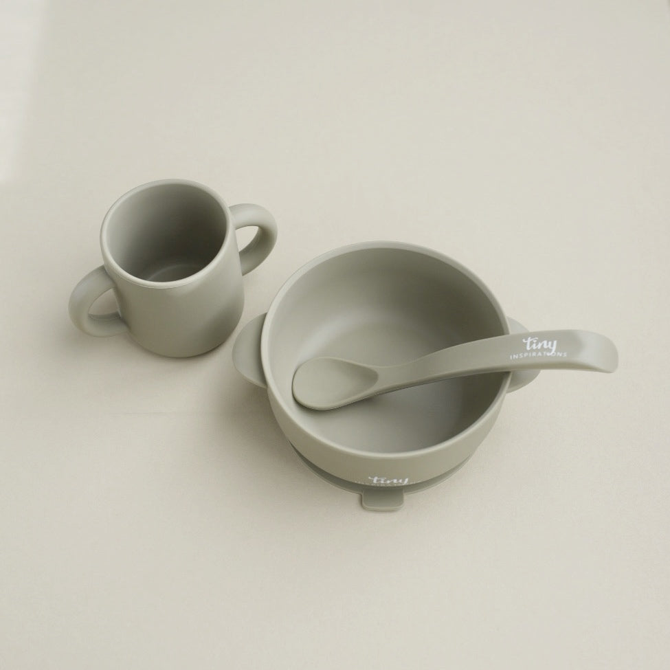 Silicone Bowl+Spoon and Cup Set - Willow