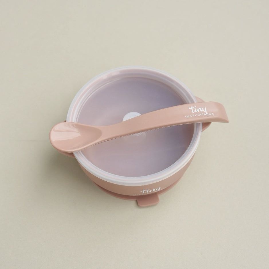 Silicone Bowl + Spoon - Rosewood