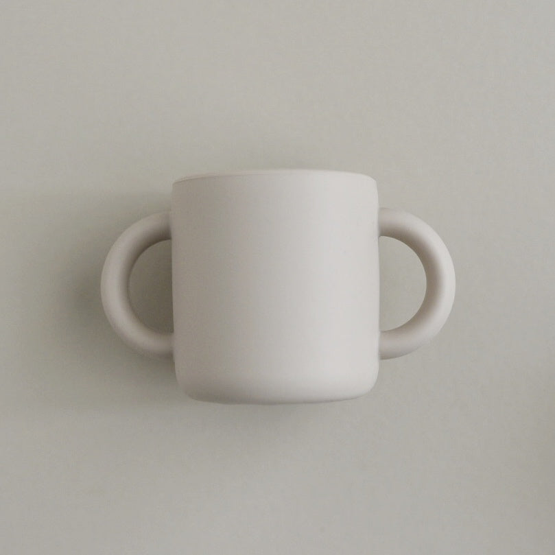 Silicone Cup with Handles - Sandstone