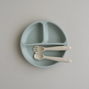 Silicone Divided Plate and Utensil Set