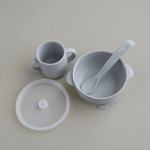 Silicone Bowl+Spoon and Cup Set - Dove