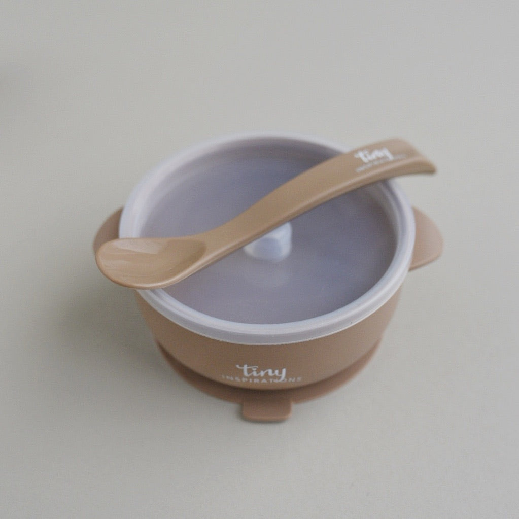 Silicone Bowl + Spoon - Mocha