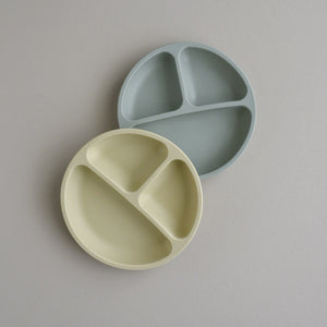 Silicone Divided Plate - 2 pack