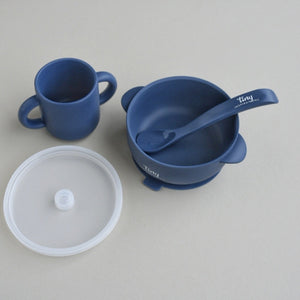 Silicone Bowl+Spoon and Cup Set - Dusk