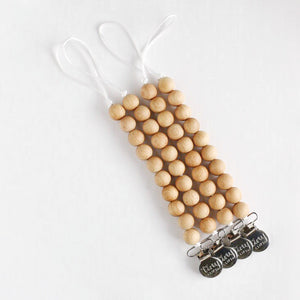 Pacifier/Toy Clips: All Natural Collection - Beech Wood