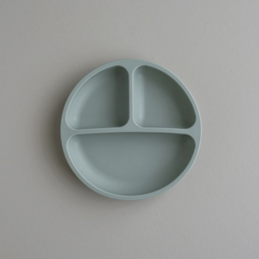 Silicone Divided Plate - Sage