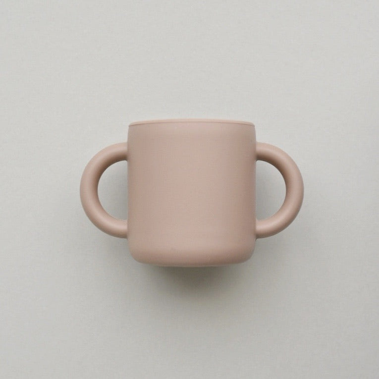Silicone Cup with Handles - Mocha