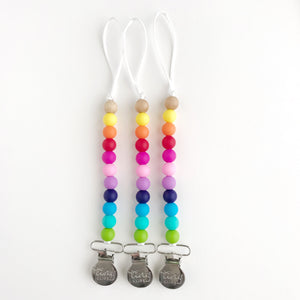 Pacifier/Toy Clips: Mini Solids Collection