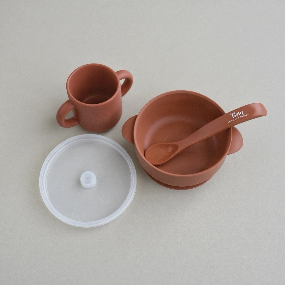 Silicone Bowl+Spoon and Cup Set - Spice
