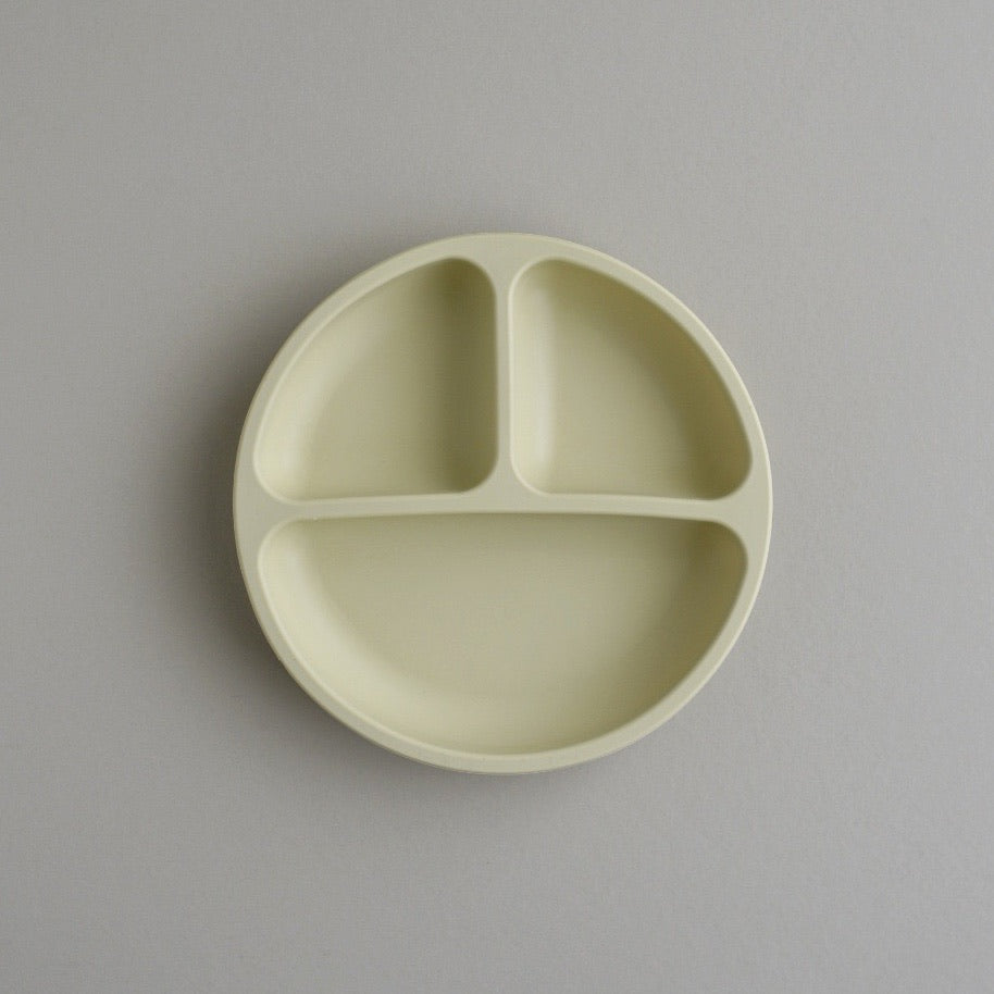 Silicone Divided Plate - Wheat