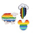 Rainbow Pride Enamel Brooch Pins Set