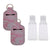 Portable Hand Sanitizer Keychain with Refillable Bottle